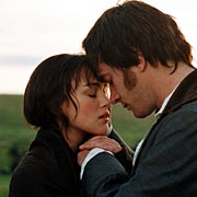 Pucker up: Keira Knightley and Matthew MacFadyen were proud to kiss in the longer version of Pride & Prejudice that was released in the USA.